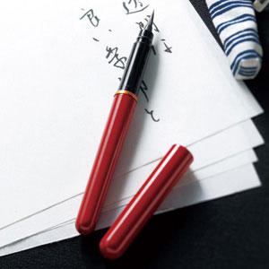 婦人画報のお取り寄せ【婦人画報】唐様三昧携帯筆ペン(桐箱入り) 縞更紗F