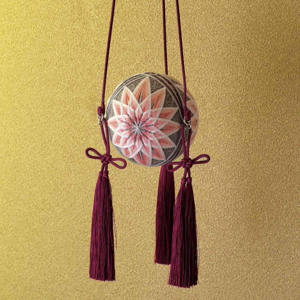 讃岐かがり手まり×伊賀組紐×嘉門工藝 重陽の節句飾り 菊のてまり