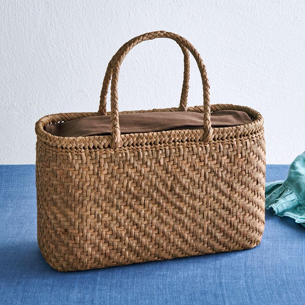 つる工房鷹山 山ぶどう籠バッグ 横長網代編み