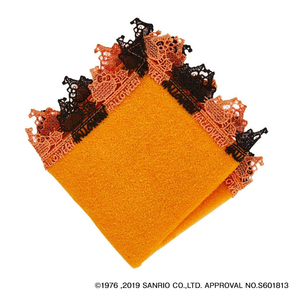 近沢レース店 ハローキティタオルハンカチ ハロウィーン オレンジ