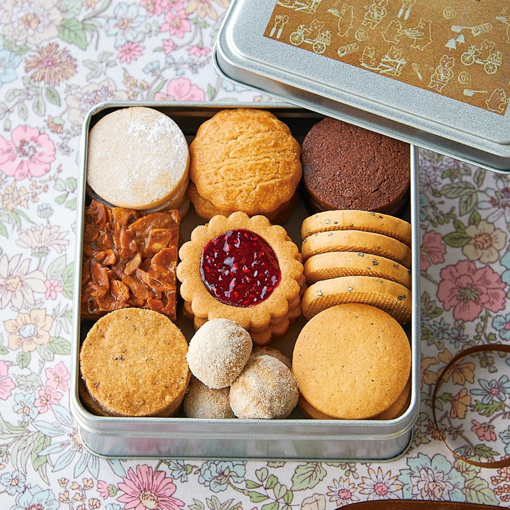 メゾンドロースノア オリジナルクッキー缶